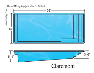Claremont Rectangle Shape Pools Designs on the Outer Banks NC