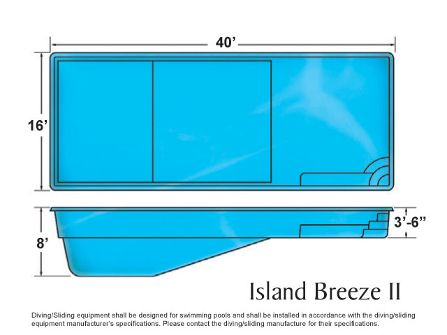 Viking Rectangle Island Breeze Pool Design Installation by Caribbean Pools and Spas Outer Banks, NC