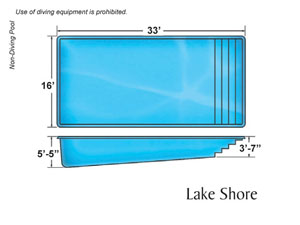Lake Shore Rectangle Shape Pools Designs on the Outer Banks NC