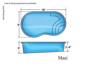 MAUI KIDNEY SHAPE pool design with Caribbean Pool on the Outer Banks NC