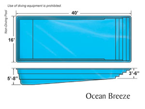 Ocean Breeze Rectangle Shape Pools Designs on the Outer Banks NC