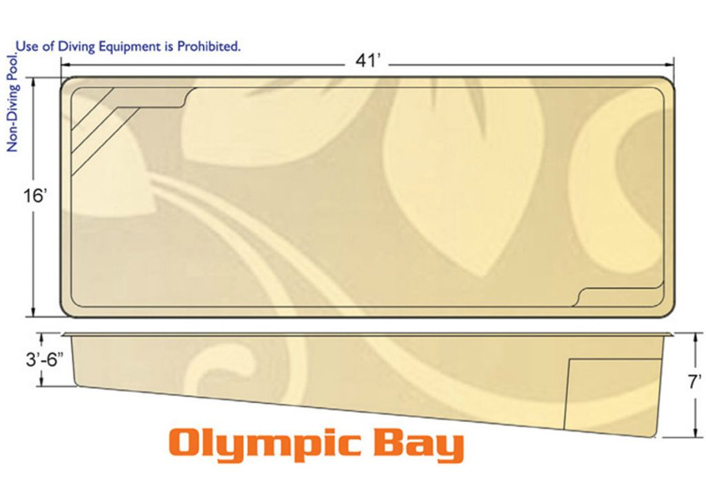 Olympic Bay Rectangle pool designs by Hawaiian Pools with Caribbean Pools on the Outer Banks NC