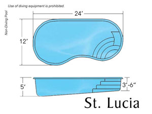 ST LUCIA KIDNEY SHAPE POOL DESIGN with Caribbean Pool on the Outer Banks NC