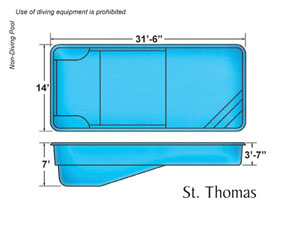 St Thomas Rectangle Shape Pool Designs with Caribbean Pools on the Outer Banks NC
