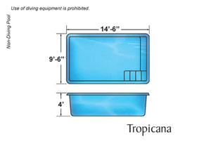 Tropicana Rectangle Shape Pool Designs with Caribbean Pools on the Outer Banks NC