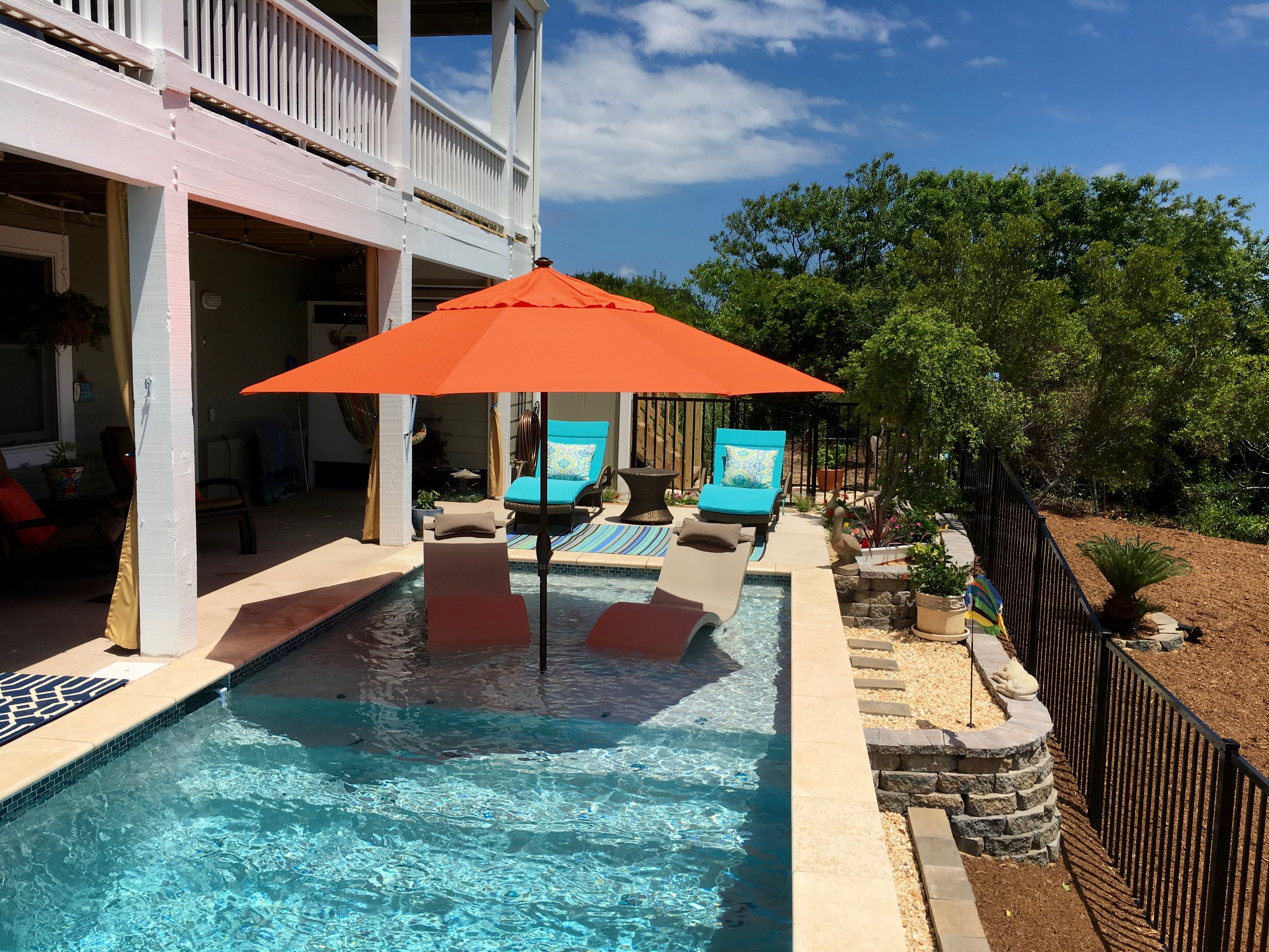 Nags Head Concrete Pool Tanning Ledge by Caribbean Pools