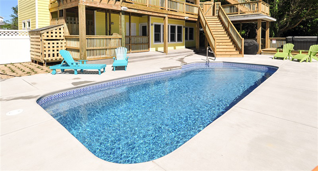 Carmel in Duck Nc Pool Installation by Caribbean Pools